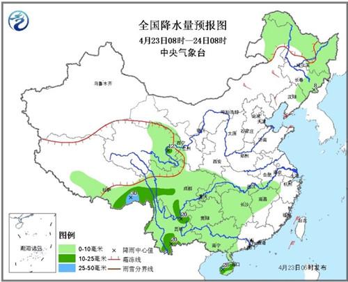 未来三天南方有阴雨天气弱冷空气影响内蒙古等地