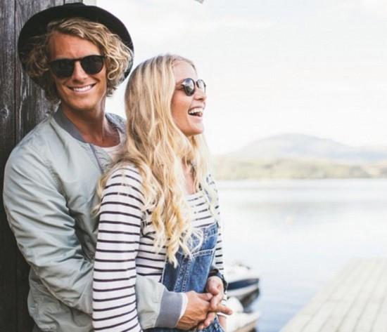 一对北欧夫妻的甜蜜环球旅行照爆红网络。(网页截图)