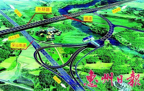 沈海高速公路拟在淡水白云坑增设出入口。 本报记者黄尉宏 翻拍