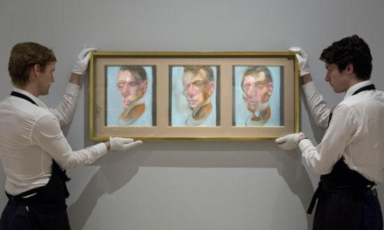 拍品之一:弗朗西斯・培根《三联自画像习作》(1980)
