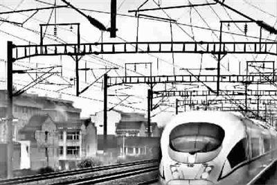 高铁图画 手绘简单