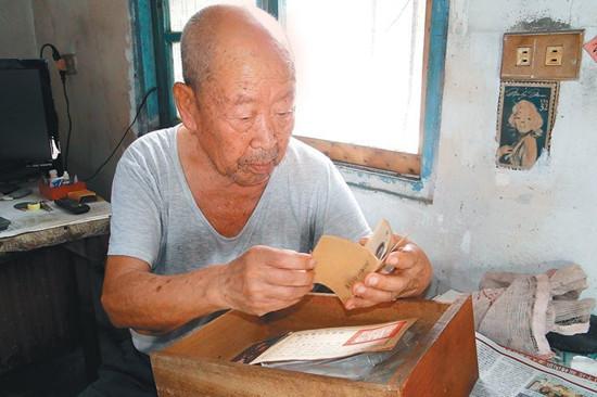 百岁抗战老兵迁台独身70年妻小隔海相思(图)
