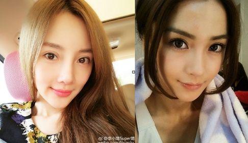 不少网友表示她的欧式双眼皮太夸张,而有些自拍照又撞脸了angelababy.图片