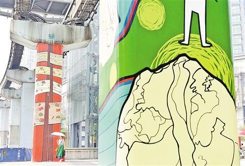 杨家坪轻轨视觉艺术长廊即将亮相