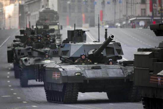 高清:俄军神秘T-14新型坦克真容曝光