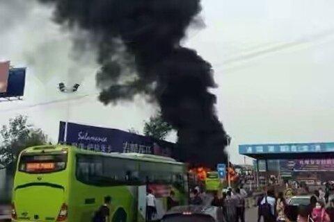 燕郊进京公交通州附近遭纵火案件正在进一步调查