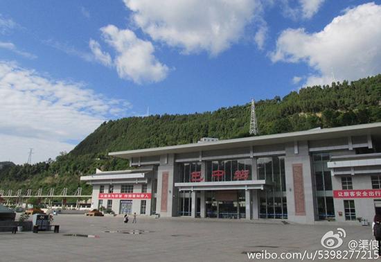 巴中火车站。图据网友