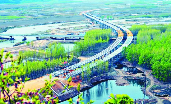 牡丹江海浪河特大桥主体完成 预计8月底竣工通车