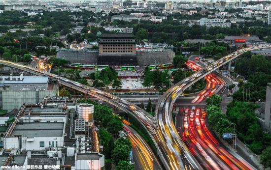带着色彩包含温度的北京城