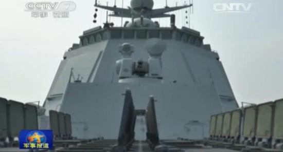 央视曝光中国海军052D舰垂发装置开启画面