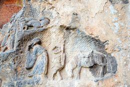 官员、猴行者、白龙马摩崖石刻造像