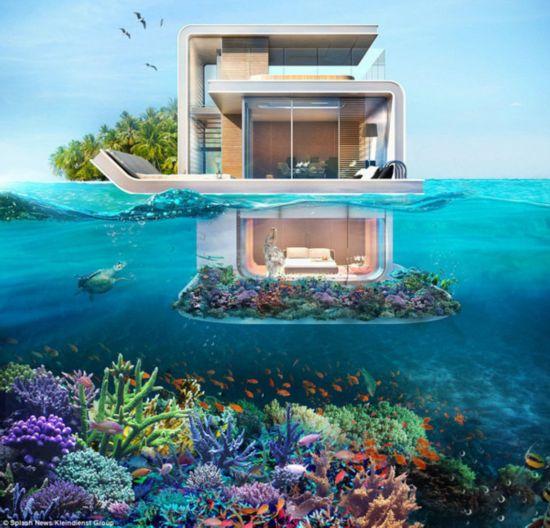 迪拜將造海中懸浮別墅 水下臥室可賞海底美景(圖)