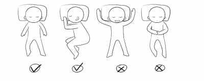 睡觉简笔画-睡姿正确防反流