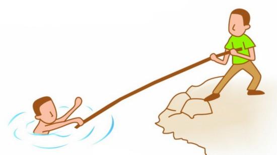 夏天主题游泳画画