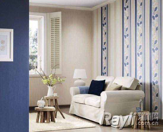 蓝白色条纹壁纸