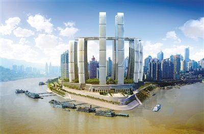 重庆来福士广场7月动工 打造水陆交通枢纽图片
