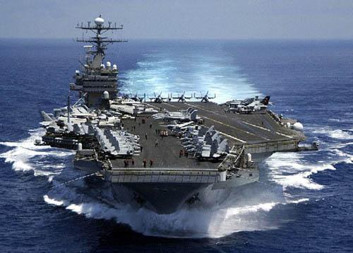 """资料图:美国核动力航母""""乔治・华盛顿号"""""""