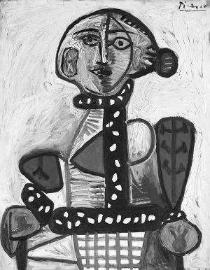 王中军以2993万美元(约合1.85亿元人民币)拍得毕加索1948年创作的油画《盘发髻女子坐像》
