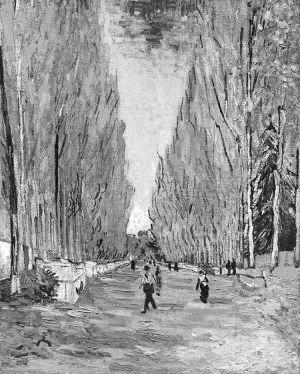 以6600万美元拍出的梵·高作品《阿利斯康道路》