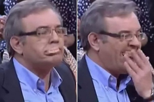 政客电视辩论太激动致假牙喷出主持人强忍笑容(图)