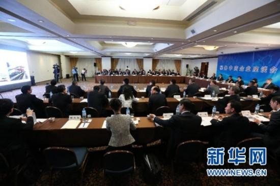 当地时间5月23日,中国国务院总理李克强在利马出席秘鲁中资企业座谈会。 新华社记者刘卫兵摄