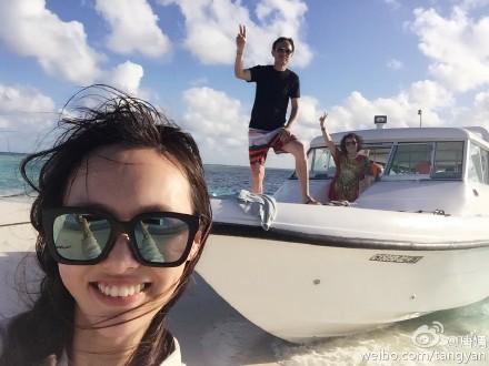 唐嫣为爸庆生游艇出场 范冰冰Angelababy揭明星奢华生活