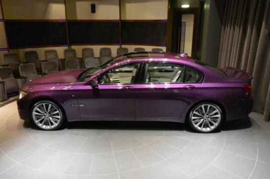 宝马推出760li特别版 高贵紫色外观(组图)