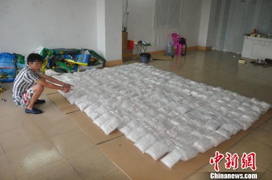 """广东警方""""雷霆扫毒""""两天缴获冰毒一吨多"""