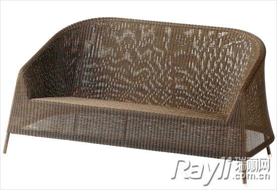 竹编座椅手绘图
