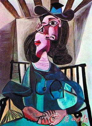 毕加索 《椅子上的少女》
