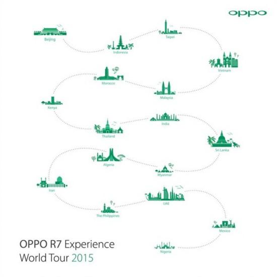 正式亮相印尼 OPPO R7开启体验之旅!