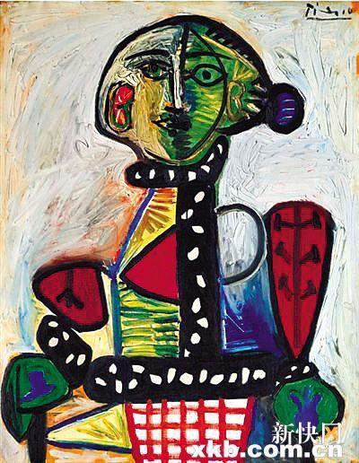 ■以2993万美元成交的毕加索《盘发髻女子坐像》。