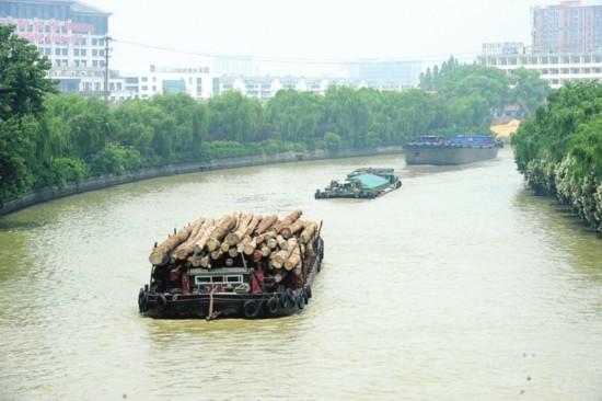 昨天,京杭大运河苏州段货船往来频繁。据悉,京杭大运河苏州段的年通过量为2亿吨。□记者杭兴微摄