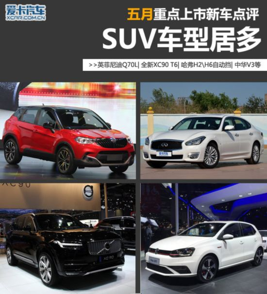 SUV车型居多 5月份重点上市新车点评