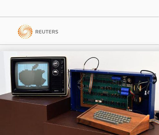 神秘女子捐赠苹果初代电脑,将获10万美元拍卖金(网页截图)