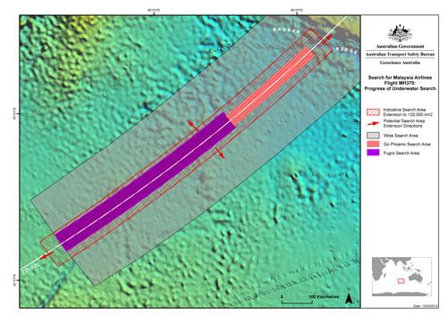 澳大利亚联合机构协调中心(JACC)在官网上发布了有关MH370搜救工作的最新报告,称不会扩大现有的搜寻范围。(图片来源:JACC官网)