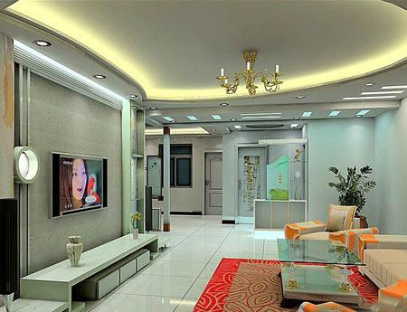 装修客厅吊顶效果图 灯带设计-客厅吊顶效果图 营造精彩家居生活