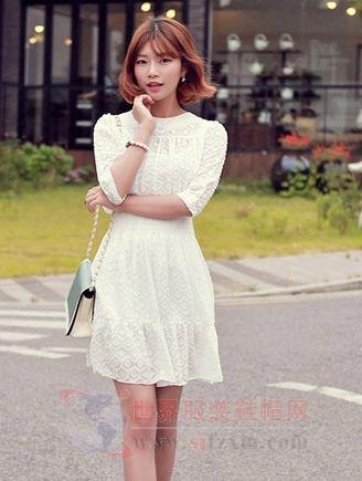 白色连衣裙搭配 气质脱俗最仙女