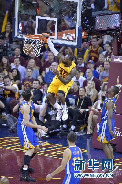 NBA总决赛骑士vs勇士第三场:骑士2比1领先(比
