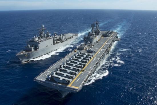 高清:美军2艘两栖舰分别进入香港水域和东海