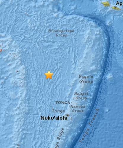斐济附近海域发生5.0级地震 暂无海啸预警