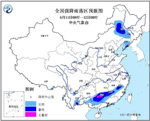 广西湖南等局地有大暴雨华北东北强对流天气减弱