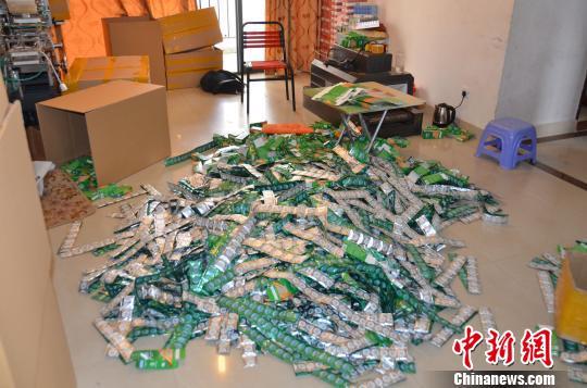 广东惠州警方破获一宗特大假冒伪劣避孕套案(图)