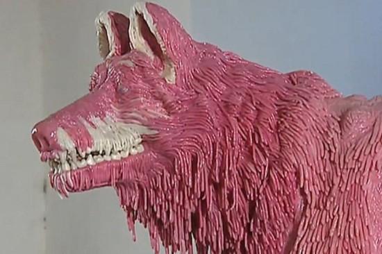 意艺术家制作泡泡糖雕塑 每件售价达5万欧元