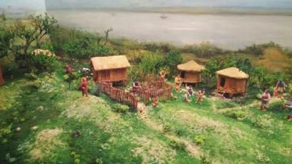 当时的村落模拟图