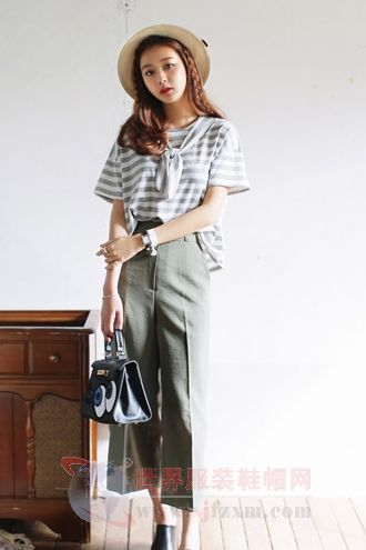 九分裤时髦搭配 出街造型超有范