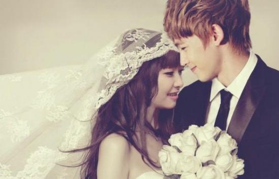 我们相爱吧石榴夫妇刘雯崔始源惹眼 扒维尼红薯夫妇婚纱照