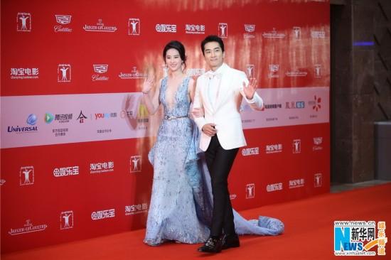 刘亦菲宋承宪携手红毯 超高颜值被赞最美CP