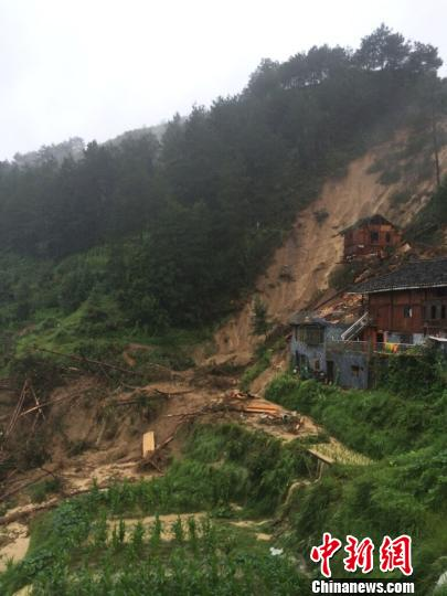 贵州雷山发生山体滑坡5人被救出仍有1人被困