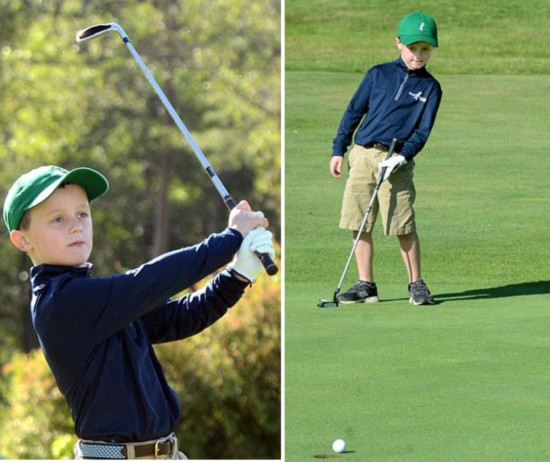 美6岁男孩打高尔夫筹3万美元善款 纪念癌症过世同学